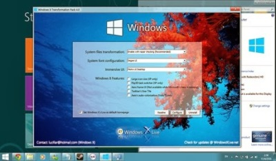 Gambar Software windows 8 Transformation pack 7.0